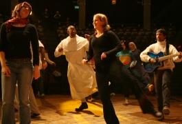 PT 2006 - «Ils sont fous ces chrétiens» avec Fr David et Jean-Bernard Calixte (© J.-C. Gadmer)