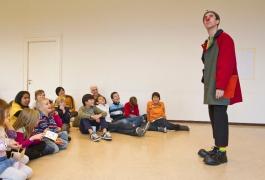 PT 2011 – Programme-enfants avec le clown valaisan Gabidou (© J.-C. Gadmer)